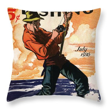 Hunting And Fishing Throw Pillow