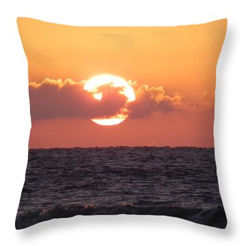 Hunting Island Sunrise Throw Pillow
