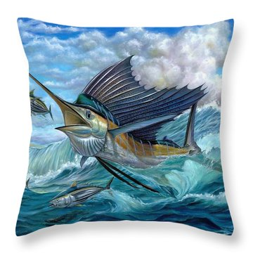 Hunting Sail Throw Pillow
