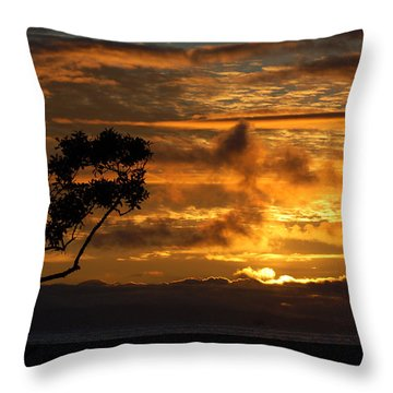 Throw Pillow featuring the photograph Huntington Beach Sunset by Matt Harang