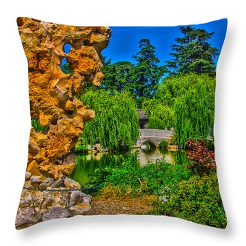 Huntington Gardens Ca Throw Pillow