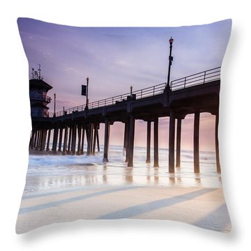 Huntington Pier Throw Pillow