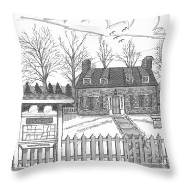 Hurley Historical Society Throw Pillow