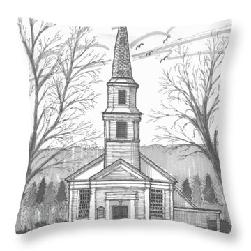 Hurley Reformed Church Throw Pillow