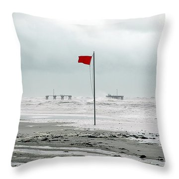 Hurricane At Gulf Shores Alabama Throw Pillow
