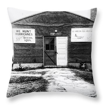 Hurricane Hunters Outbuilding In Alaska Throw Pillow by Vizual Studio