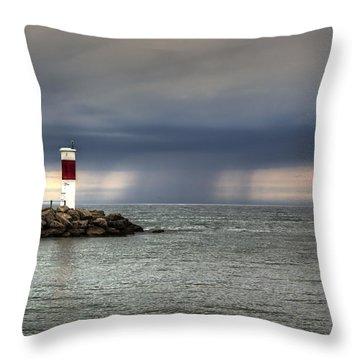 Hurricane Irene Throw Pillow by Tim Buisman