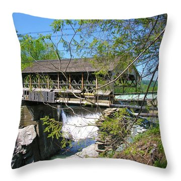 Throw Pillow featuring the photograph Hurricane Irenes Destruction by Sherman Perry