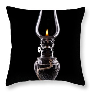Hurricane Lamp Still Life Throw Pillow by Tom Mc Nemar