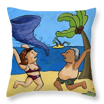 Hurricane Season Throw Pillow