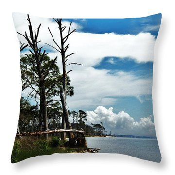 Throw Pillow featuring the photograph Hurricane Trail by Faith Williams