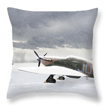 Hurricanes In The Snow Throw Pillow