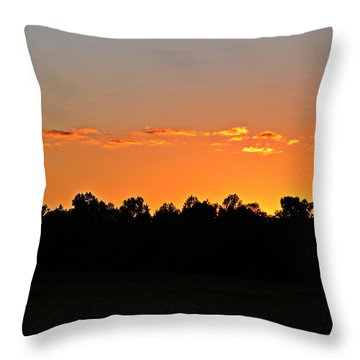 Throw Pillow featuring the photograph Hurry Sundown by Linda Brown
