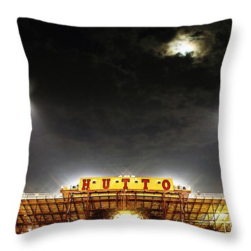 Hutto Hippo Stadium Throw Pillow