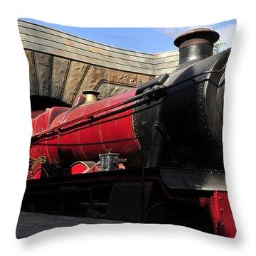 Hogwarts Express Train Work A Throw Pillow by David Lee Thompson