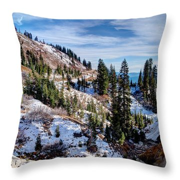 Hwy 89 To The Peak Throw Pillow