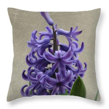 Hyacinth Purple Throw Pillow by Jeffrey Kolker