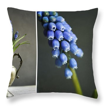 Hyacinths Throw Pillows