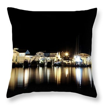 Hyannis At Night Throw Pillow