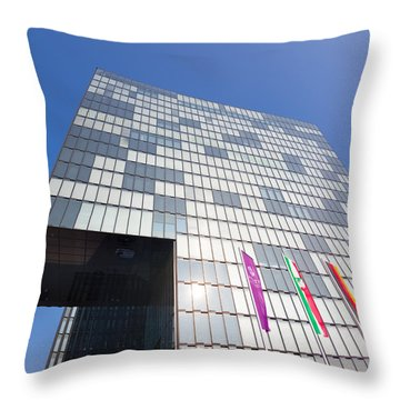 Hyatt Regency Hotel In Dusseldorf Throw Pillow by Hans Engbers