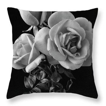 Hybrid Tea California Roses Throw Pillow