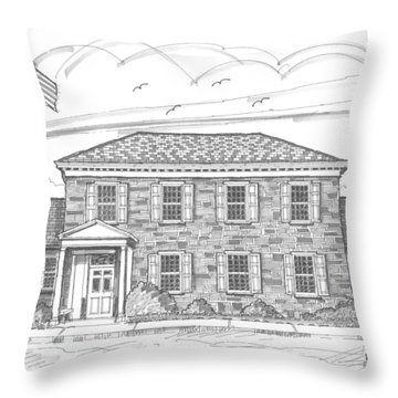 Hyde Park Post Office Throw Pillow