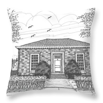 Hyde Park Public Library Throw Pillow
