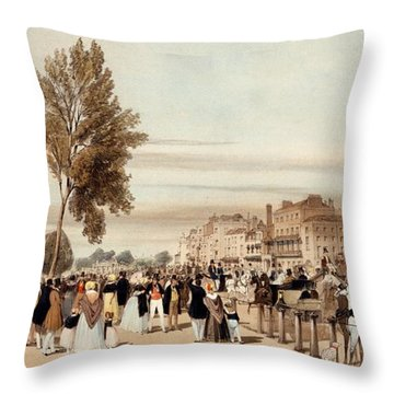 Hyde Park, Towards The Grosvenor Gate Throw Pillow by Thomas Shotter Boys
