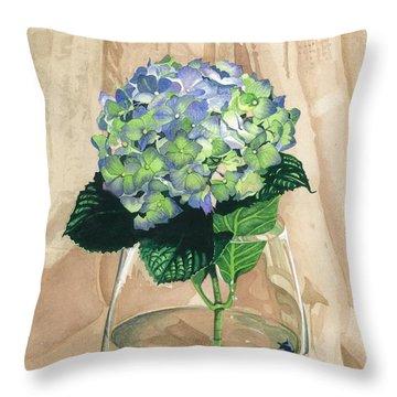 Hydrangea Blossom Throw Pillow