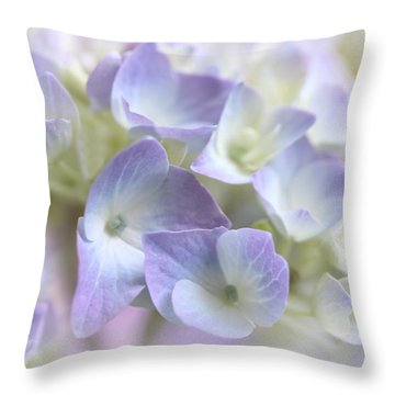 Hydrangea Floral Macro Throw Pillow by Jennie Marie Schell
