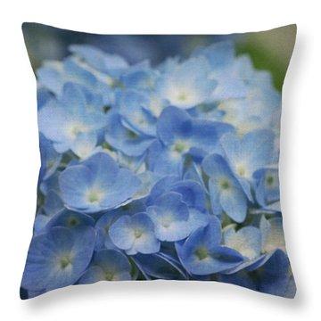 Hydrangea Solitude Throw Pillow