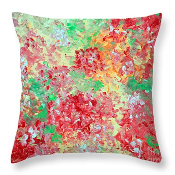 Throw Pillow featuring the painting Hydrangeas II by Alys Caviness-Gober