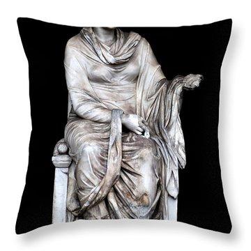 Hygieia Throw Pillow by Fabrizio Troiani