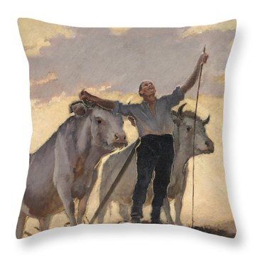 Hymn Of The Earth To The Sun Throw Pillow