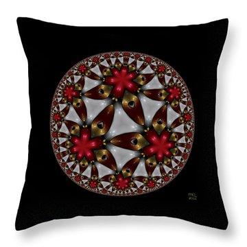 Hyper Jewel I - Hyperbolic Disk Throw Pillow