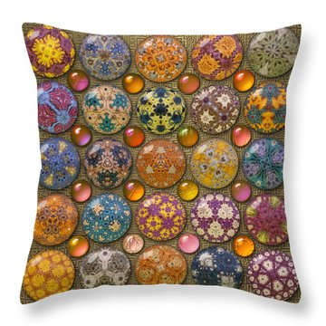 Hyperbolicrochet Kaleidoscope Quilt Throw Pillow