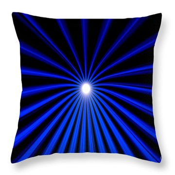 Hyperspace Blue Landscape Throw Pillow
