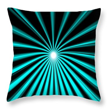 Hyperspace Cyan Portrait Throw Pillow