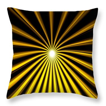 Hyperspace Gold Landscape Throw Pillow