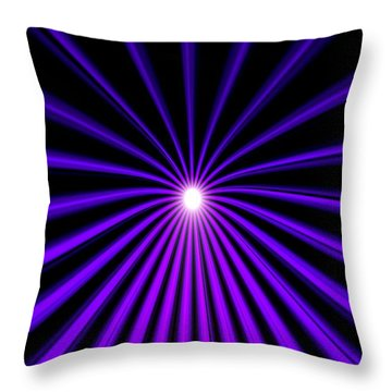 Hyperspace Violet Portrait Throw Pillow