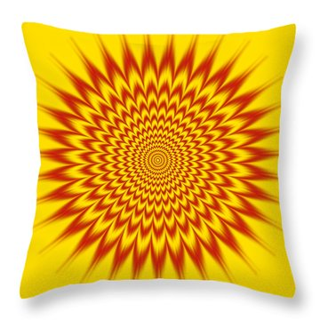 Hypnotic Vibes Throw Pillow