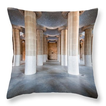 Hypostyle Room In Park Guell Throw Pillow