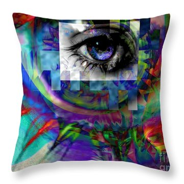 I Abstract Throw Pillow by Elizabeth McTaggart