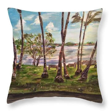 Throw Pillow featuring the painting I Am Always With You by Belinda Low
