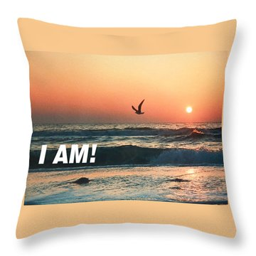 The Great I Am  Throw Pillow
