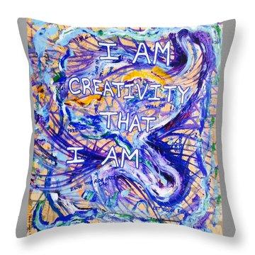 I Am Creativity Throw Pillow