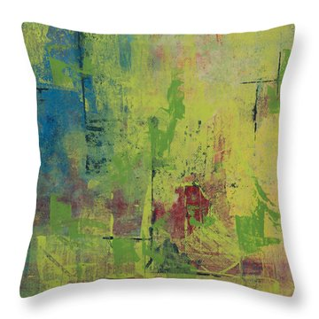 Curious Yellow Throw Pillow