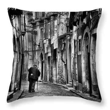 Old Road Throw Pillows