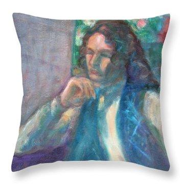 I Am Heathcliff - Original Painting  Throw Pillow
