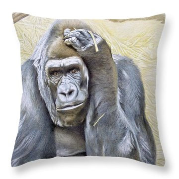 I Am In Big Trouble Throw Pillow